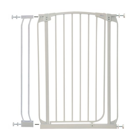 Dreambaby Chelsea Tall Auto Close Security Gate Combo, White
