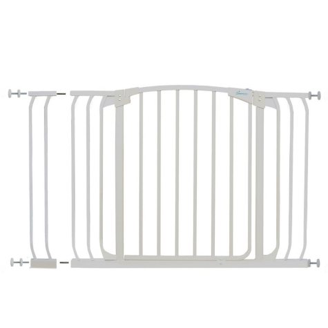 Dreambaby Chelsea Xtra Hallway Auto Close Security Gate Combo, White
