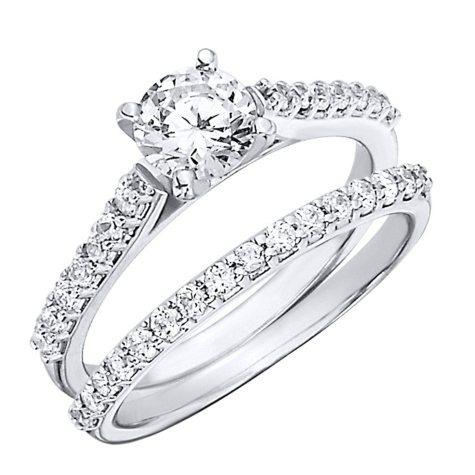 1.20 CT.T.W. Shared Prong Diamond Wedding Set in Platinum (H-I, I1)