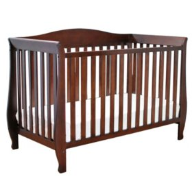 AFG Waverly 4-in-1 Convertible Crib, Espresso
