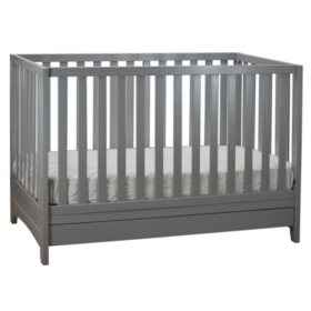AFG Mila 3-in-1 Convertible Crib with Toddler Guardrail (Choose Your Color)