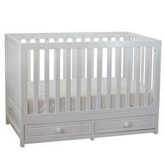 AFG Marilyn 3-in-1 Convertible Crib, White