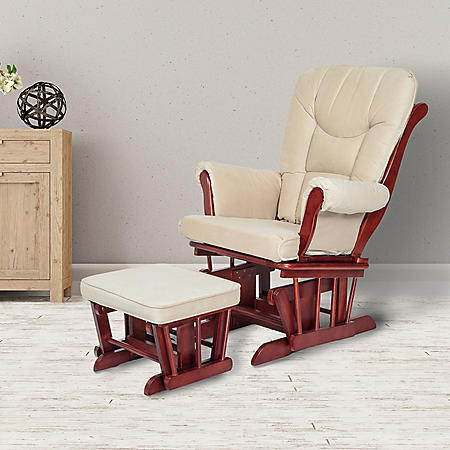 AFG Sleigh Glider with Ottoman (Choose Your Color)