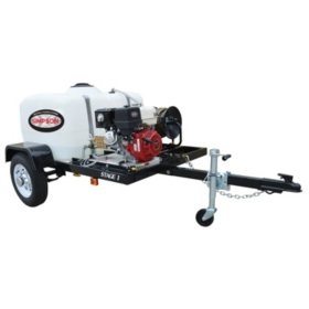 SIMPSON 4200 PSI at 4.0 GPM with HONDA GX390 CAT Triplex Pump Industrial Gas Powered Pressure Washer Trailer