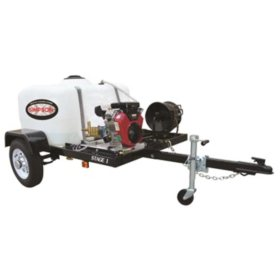 SIMPSON 4200 PSI at 4.0 GPM VANGUARD V-Twin with CAT Triplex Pump Powered Industrial Gas Pressure Washer Trailer