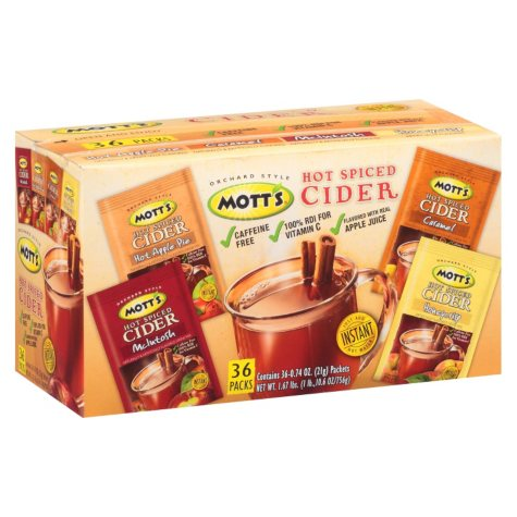 Mott's Hot Spiced Cider Variety Pack - 0.74 oz. - 32 ct.