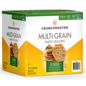 Crunchmaster 5 Seed Multi-Grain Crackers (10 oz., 2 pk.)