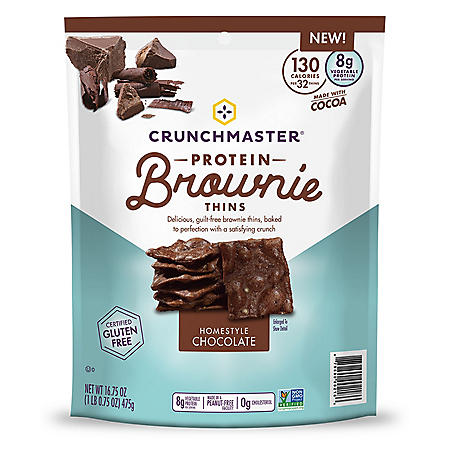 Crunchmaster Protein Brownie Thins Homestyle Chocolate (16.75oz)