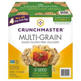 Crunchmaster 5 Seed Multi-Grain Cracker (5 oz., 4 pk.)