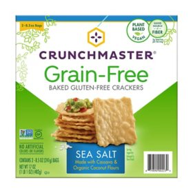 Crunchmaster Grain Free Cracker, Sea Salt (8.5 oz., 2 pk.)