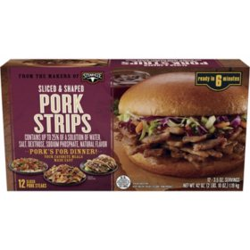 Pork Strips Sliced and Shaped (42 oz.)