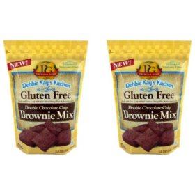 Debbie Kay's Kitchen Gluten-Free Chocolate Chip Brownie Mix (18 oz. ea., 2 pk.)
