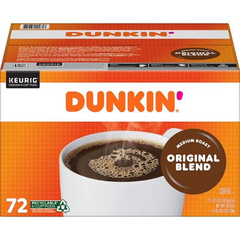 Dunkin' Donuts Original Blend K-Cups (72 ct.)