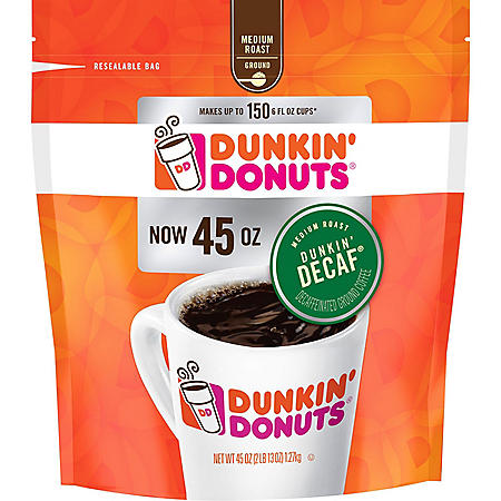 Dunkin' Donuts Ground Coffee, Decaffeinated (45 oz.)