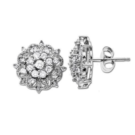 .47 ct. t.w. Diamond Cluster Stud Earrings (H-I, I1)