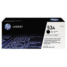 HP 53A Original Laser Jet Toner Cartridge, Black - 3,000 Page Yield