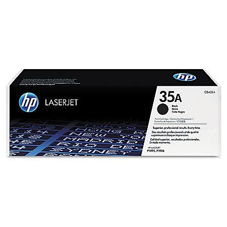 HP 35A Original Laser Jet Toner Cartridge, Black, Select Type (1,500 Page Yield)