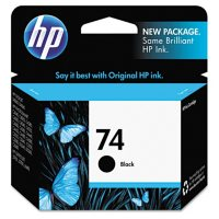 HP 74, Black Original Ink Cartridge