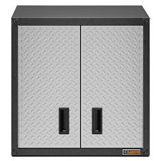Gladiator 28-inch Ready to Assemble Steel Garage Wall Cabinet in Silver Tread