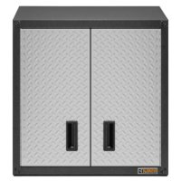 """Gladiator 28"""" Ready-to-Assemble Steel Garage Wall Cabinet in Silver Tread"""
