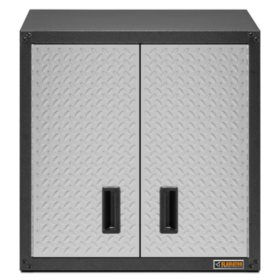 "Gladiator 28"" Ready-to-Assemble Steel Garage Wall Cabinet in Silver Tread"
