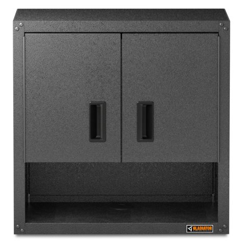 Gladiator 28-inch Ready to Assemble Steel Garage Wall Cabinet with Shelf in Hammered Granite