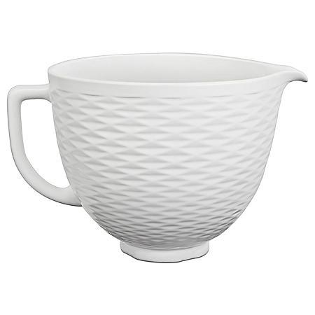 KitchenAid 5-Quart Textured White Chocolate Ceramic Bowl