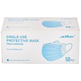 CleanHome Disposable Face Mask, 3 Ply (50 ct.)