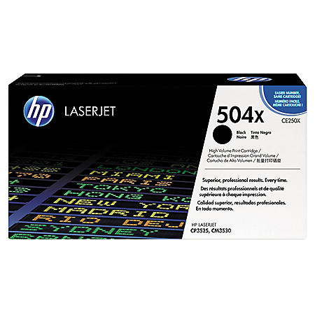 HP 504 Original Laser Jet Toner Cartridge, Select Color