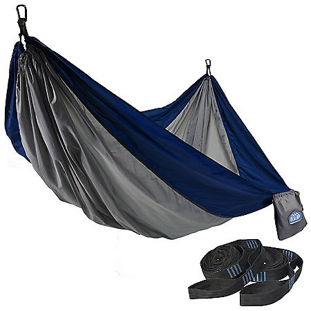 Equip 2- Person Recycled Fabric Portable Hammock with Straps