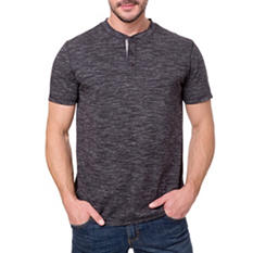 Lee Mens' Short-Sleeve Textured Henley