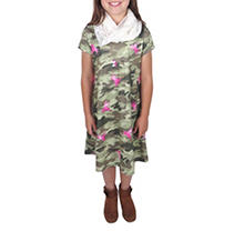 Camo 7/8 3-PC Dress Set