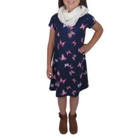 Pink & Violet Girl 3-Piece Dress Set