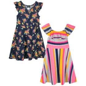 Pink & Violet Girls' Dress, 2-Pack