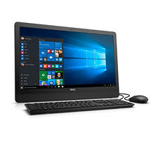 "Dell Inspiron All-In-One 23.8"" FHD Anti-Glare LED-Backlit Display with Wide Viewing Angle, Quad Core AMD E2-7110 Processor, 4GB Memory, 500GB Hard Drive, Wired Keyboard and Mouse, Windows 10"