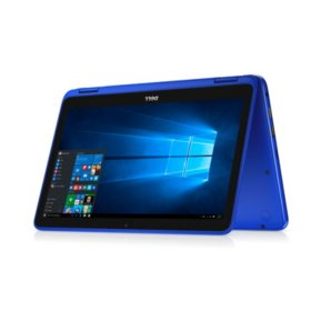 Dell Inspiron 11.6-inch HD 2-in-1 Convertible Touch Notebook, Intel Celeron N3060 Processor, 4GB Memory, 32GB eMMC Storage, Blue, includes Office 365 Personal