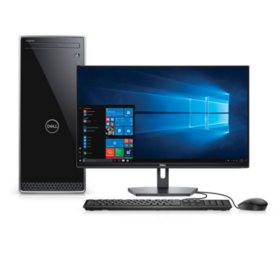 Dell Inspiron 3670 Desktop Bundle, Intel Core i5-8400 Processor, Intel UHD 620 Graphics, 28GB Memory: 12GB + 16GB Intel Optane, 1TB HDD, DVD-RW, SE2719H Monitor, Keyboard & Mouse, Desktop Tower