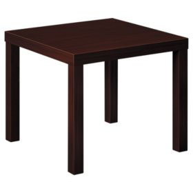 "basyx Laminate 24"" Occasional Table, Mahogany"