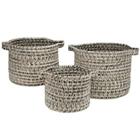 Colonial Mills Sand Tweed Basket, Set of 3