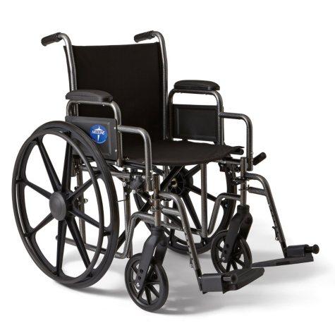 """Height Adjustable Lightweight Wheelchair - 27""""W Rim to Rim"""