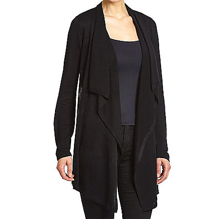Premise Women's Long Sleeve Open Front Drape Cardigan