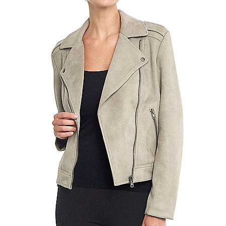 Philosophy Women's Long Sleeve Faux Suede Moto Jacket