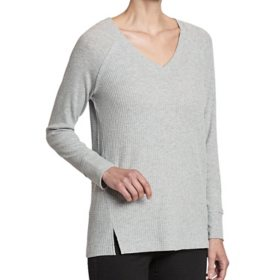 C&T Women's Long Sleeve Waffle Knit Top