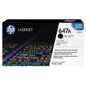 HP 647A Original Laser Jet Toner Cartridge, Select Color/Type