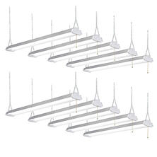 Honeywell LED 4' Shop Lights (10 pk., Silver Finish)
