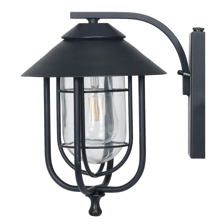 Honeywell Decorative Wall Lantern with LED Vintage Filament Bulb