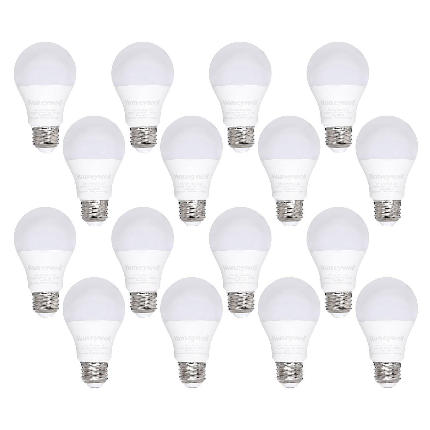 16-Pack Honeywell 800 Lumen A19 LED Light Bulb 8.5W (60W Equivalent)