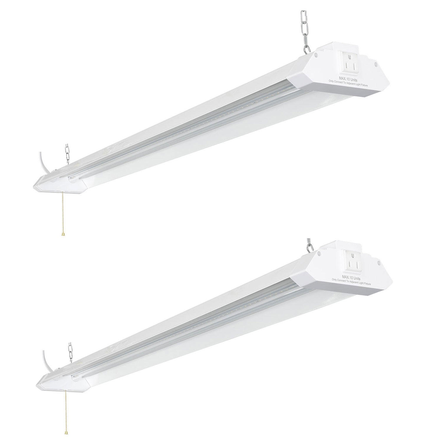 "2-Pack Honeywell LED 4"" Linkable Shop Light"