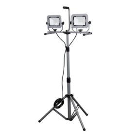 Honeywell 5000 Lumen Dual-Head LED Portable Work Light with Tripod