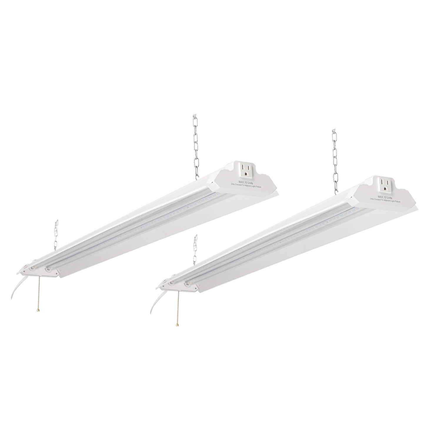 2-Pack Honeywell 5000 Lumen 4' LED Metal Shop Light